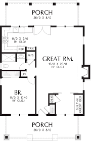 Square House Floor Plans Bungalow Style House Plan 1 Beds 1 Baths 960 Sq Ft Plan 48 666