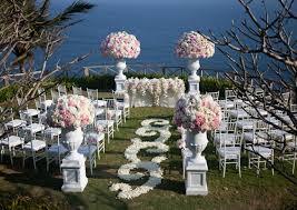 wedding ceremonies simply stunning outdoor wedding ceremonies a well festooned