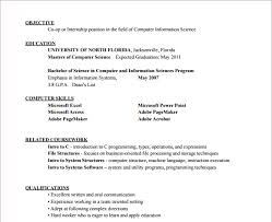 resume for internship in computer science pdf files 10 hvac resume templates free sles exles format
