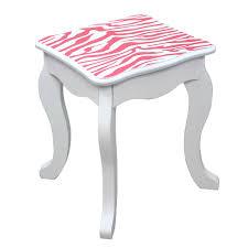 Teamson Vanity Teamson Kids Fashion Prints Vanity Table U0026 Stool Set Hayneedle