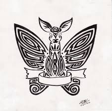 tribal winged deer inspired by is strange by