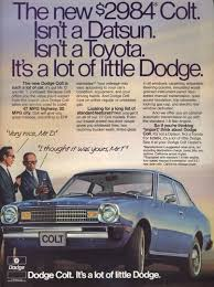 the 1977 dodge colt was imported for dodge by mitsubishi