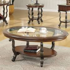 coffee table round glass coffee table sets set in wood leather