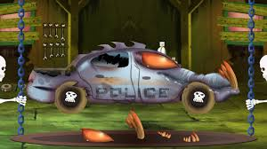 monster truck halloween costume scary police car garage halloween cars videos for kids youtube