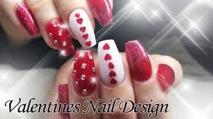 valentines day acrylic nail design notpolish youtube