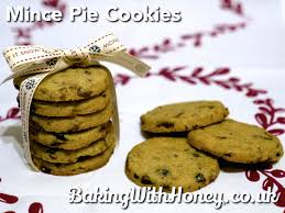 mince pie cookies baking with honey