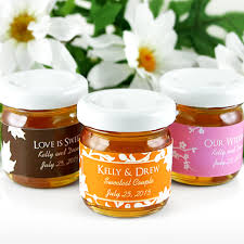 honey favors silhouette personalized wedding honey jars coffee theme wedding