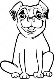 pug dog cartoon coloring book u2014 stock vector izakowski 30873459