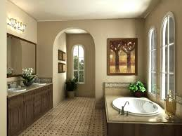 tuscan bathroom design traditional style feel antiqued mirror travertine tuscan