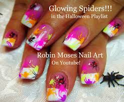 nail art easy halloween nails bats cats design tutorial halloween