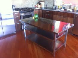 Kitchen Island With Stainless Steel Top Stainless Steel Kitchen Island Cart Ikea Hackers Throughout Metal