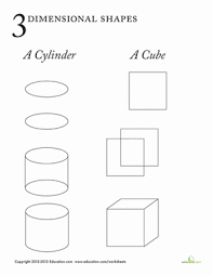3 dimensional shapes worksheet education com