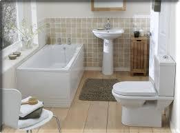 Laminate Floor White Gray Fur Mat White Bathtub White Latrine White Washbasin Wooden