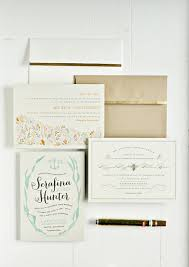 mint wedding invitations diy gold leafing wedding invitations and envelopes julep