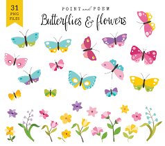 spring clip art butterfly u0026 flowers commercial
