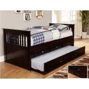 espresso full bookcase daybed with 3 drawers and trundle