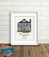 New House Gift Custom Home Illustration New House Gift Family U0027s First Home
