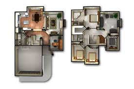 Free Home Design 3d Software For Mac by House Plan 2 Story 3d Floor Plan Gallery With Bedroom House Plans