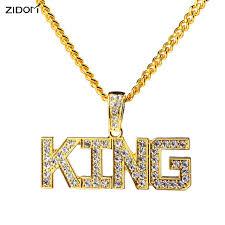 hip hop necklace images Buy men hip hop full rhinestone king shape jpg