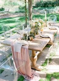 wedding reception table runners farm table flowy chiffon table runner we do custom sizes