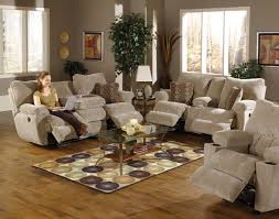 Reclining Sofas And Loveseats Earth Fabric Reclining Sofa Loveseat Set