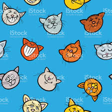 Cat Wrapping Paper Wrapping Paper With Cats Stock Vector 820598492 Istock