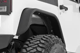 jeep wrangler unlimited flat fenders tubular rear fender flares for 2007 2017 jeep wrangler jks 10507