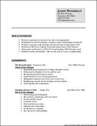 Sample Server Resumes by Examples Of Resumes 79 Cool Resume For A Job Typing Job U201a Driving