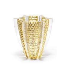 Home Design Gold Edition by Rayons Vase Limited Edition 88 Pieces Clear Crystal With Gold