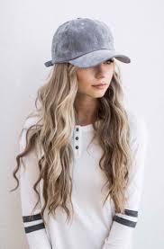 hair style in long hair hannahohx beach waves baseball cap hair pinterest