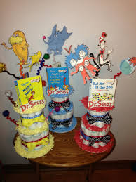 dr seuss diaper cake for baby shower cat in the hat do it yo