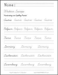 all worksheets cursive handwriting practice worksheets