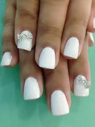 white gel nails n bows design make up pinterest pink black and