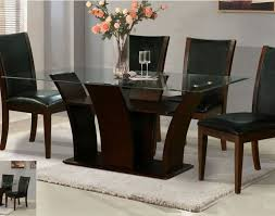 dining glass dining table set beautiful italian black lacquer