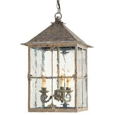 pagoda bird cage seeded glass 3 light lantern lamp kathy kuo home