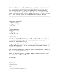 modified block letter format gallery letter samples format