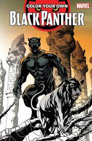 marvel coloring books 2018 black panther mutants avengers