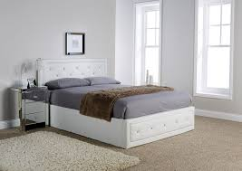 White Ottoman Bed by Florida White Crystal Ottoman Bed Frame U2013 Dublin Beds
