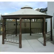 Patio Canopies And Gazebos Metal Gazebos Costco Octagon Gazebo Canopy Replacement Garden