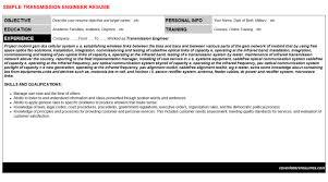 transmission engineer cover letter u0026 resume