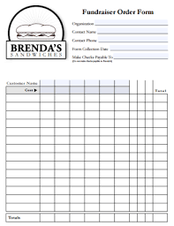 Fundraiser Order Form Template Excel Meadmin Author At Templates Front