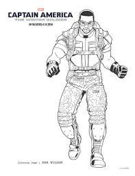 captain america winter soldier sam wilson coloring