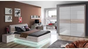 Schlafzimmer Bett Sandeiche Rondino Jugendzimmerbett In Sandeiche Und Weiß Hochglanz 140x200