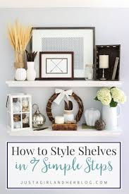 bathroom shelf decorating ideas how to style shelves in 7 simple steps and my fall shelf decor