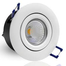 commercial led can lights directional 5w cob led recessed lighting fixture 2800k warm white