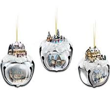 kinkade sleigh bells tree ornaments