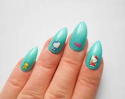 kawaii stiletto nails fake nails cute acrylic nails false