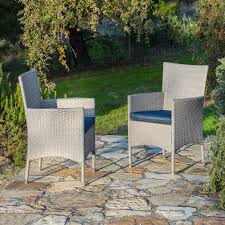 Patio Dining Chairs With Cushions Orren Ellis Centauri Patio Dining Chair With Cushion Reviews