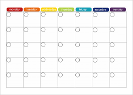 monthly schedule template schedule template free