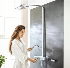 Grohe Shower Systems Wall Mounted Shower Set Contemporary Rain With Hand Shower